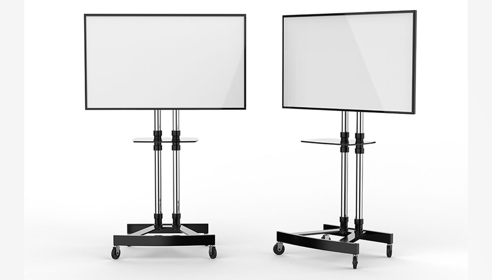 Illustration: Displays mounted on Trolleys
