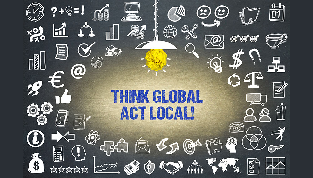 Illustration: Think Global Act Local