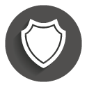 Icon grey circle: IP- Protect